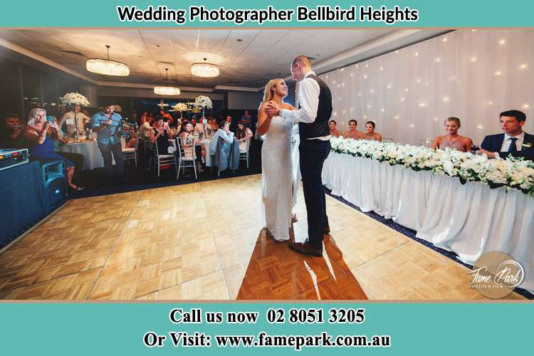 Photo of the Bride and the Groom dancing Bellbird Heights NSW 2325