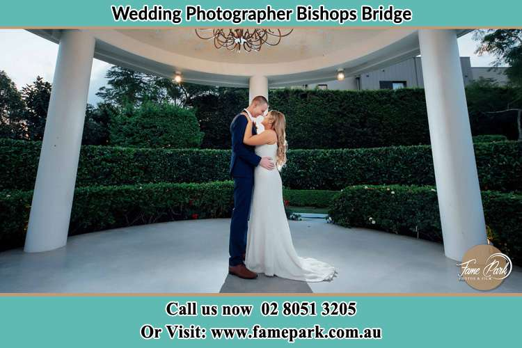 Photo of the Bride and Groom dancing Bishops Bridge