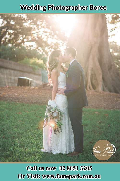 Photo of the Bride and the Groom kissing Boree NSW 2800