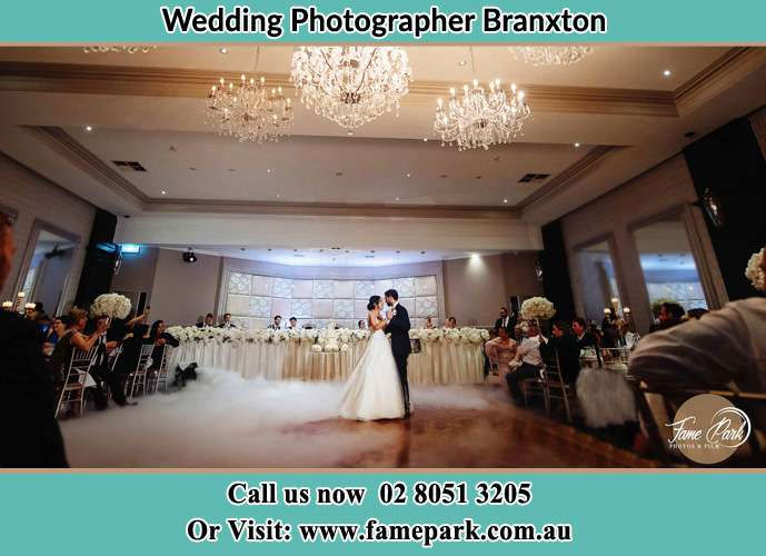 Photo of bride and groom dancing Branxton