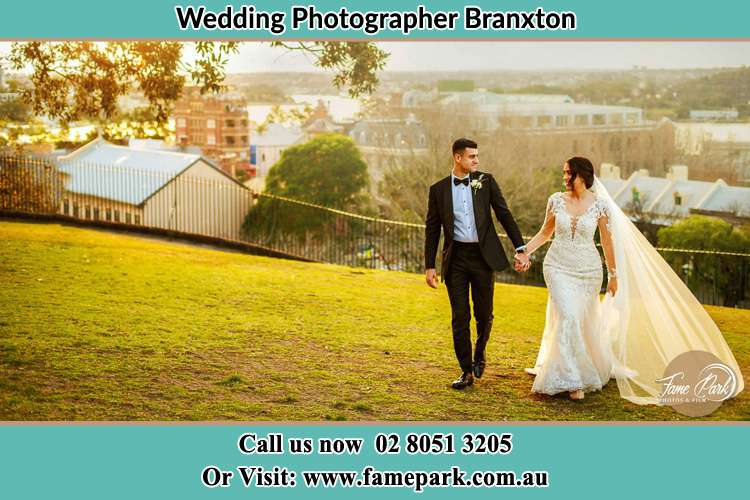 Photo of the Groom and the Bride on the garden Boree NSW 2800