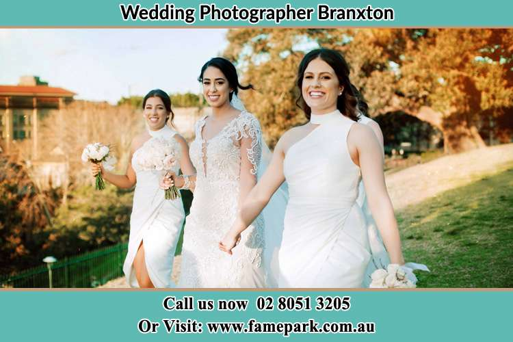 Photo of the Bride and the bridesmaids walking Boree NSW 2800