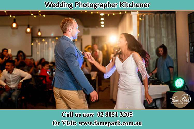 Photo of the Groom and the Bride dancing Kitchener NSW 2325