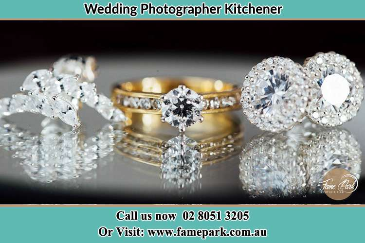 Photo of the Bride's cliff, ring and earring Kitchener NSW 2325