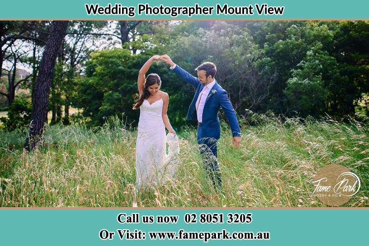 Photo of the Bride and the Groom at the yard Mount View NSW 2325