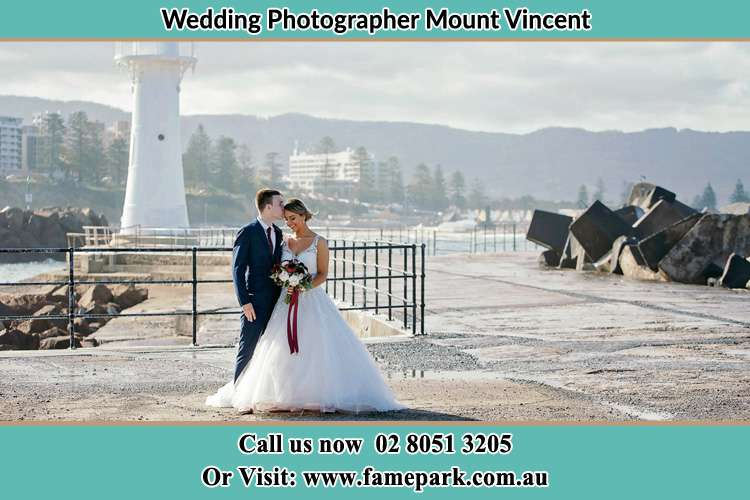 Photo of the Bride and Groom at the Watch Tower Mount Vincent NSW 2323