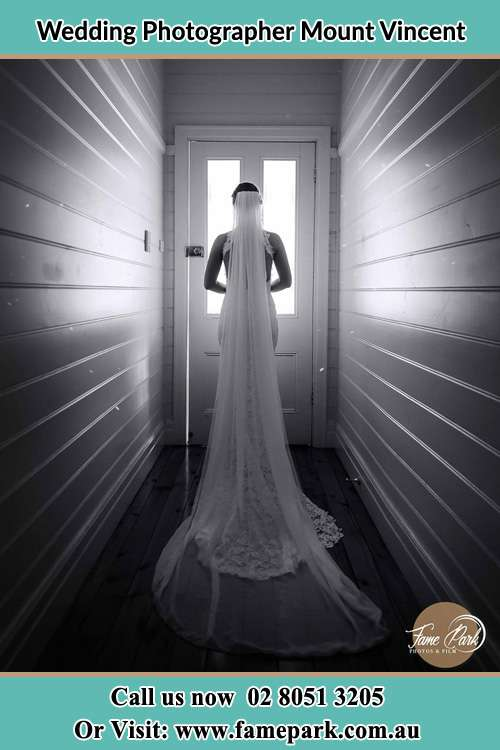Photo of the Bride going outside the door Mount Vincent NSW 2323