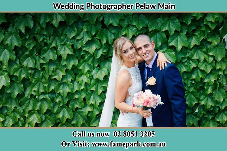 Bride and Groom In the Garden Pelaw Main