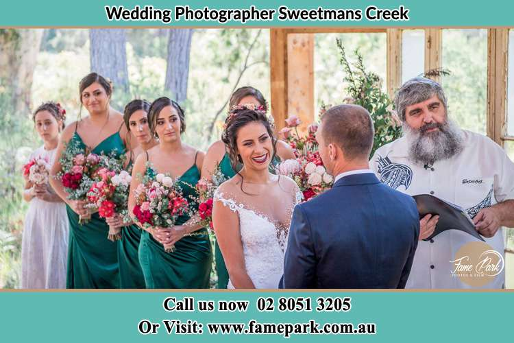 Photo of the Bride and the Groom during matrimony Sweetmans Creek NSW 2325