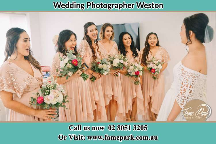 Photo of the Bride and her bridesmaids Weston NSW 2326